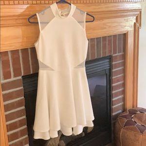 White, line-designed dress